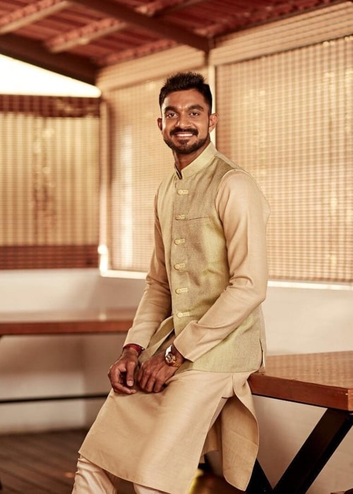 Vijay Shankar as see in a picture taken October 2019 on the occasion of Diwali