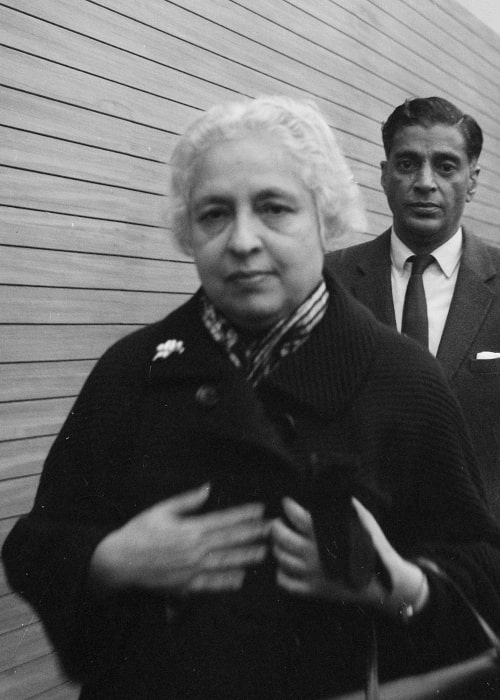 Vijaya Lakshmi Pandit as seen in a picture that was taken during her four-day visit to the Netherlands on November 10, 1956