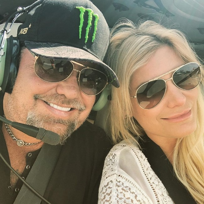 Vince Neil with his girlfriend Rain Hannah as seen in September 2019