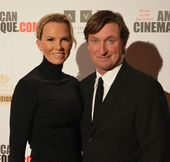 Wayne Gretzky and Janet Jones as seen in December 2013