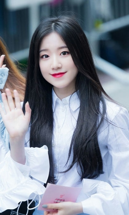 Ye Shuhua as seen while on the way to Music Bank at May 11, 2018