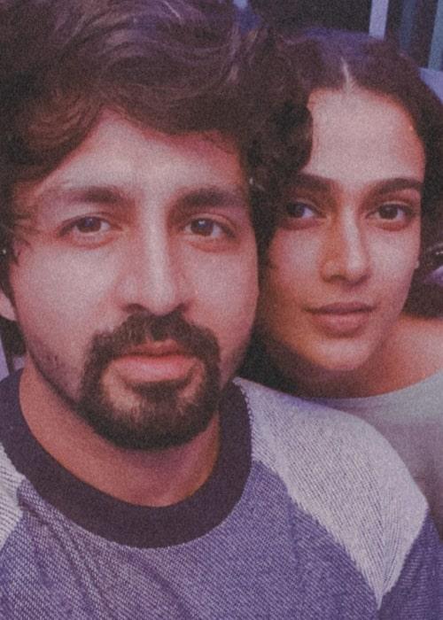 Aakanksha Singh as seen in a selfie taken with her beau Kunal Sain in January 2020