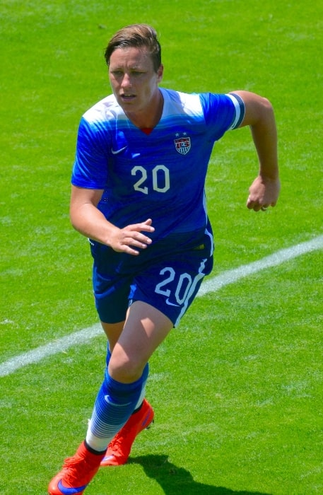 Abby Wambach as seen while playing for the US Women's National Team in San Jose, California, United States on May 10, 2015
