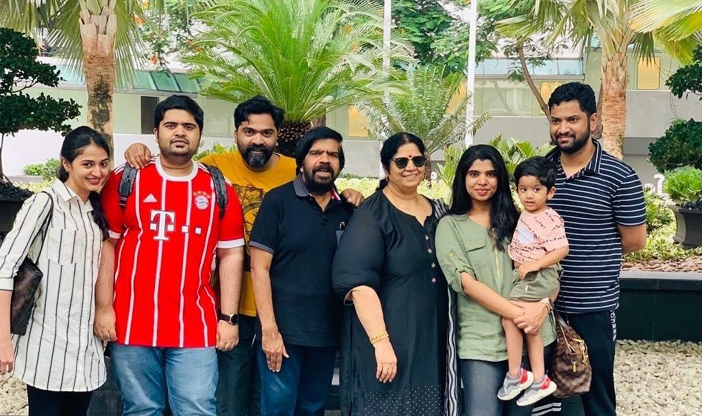 Actor Silambararsan along with his family memebers as seen in Bangkok, Thailand 2019