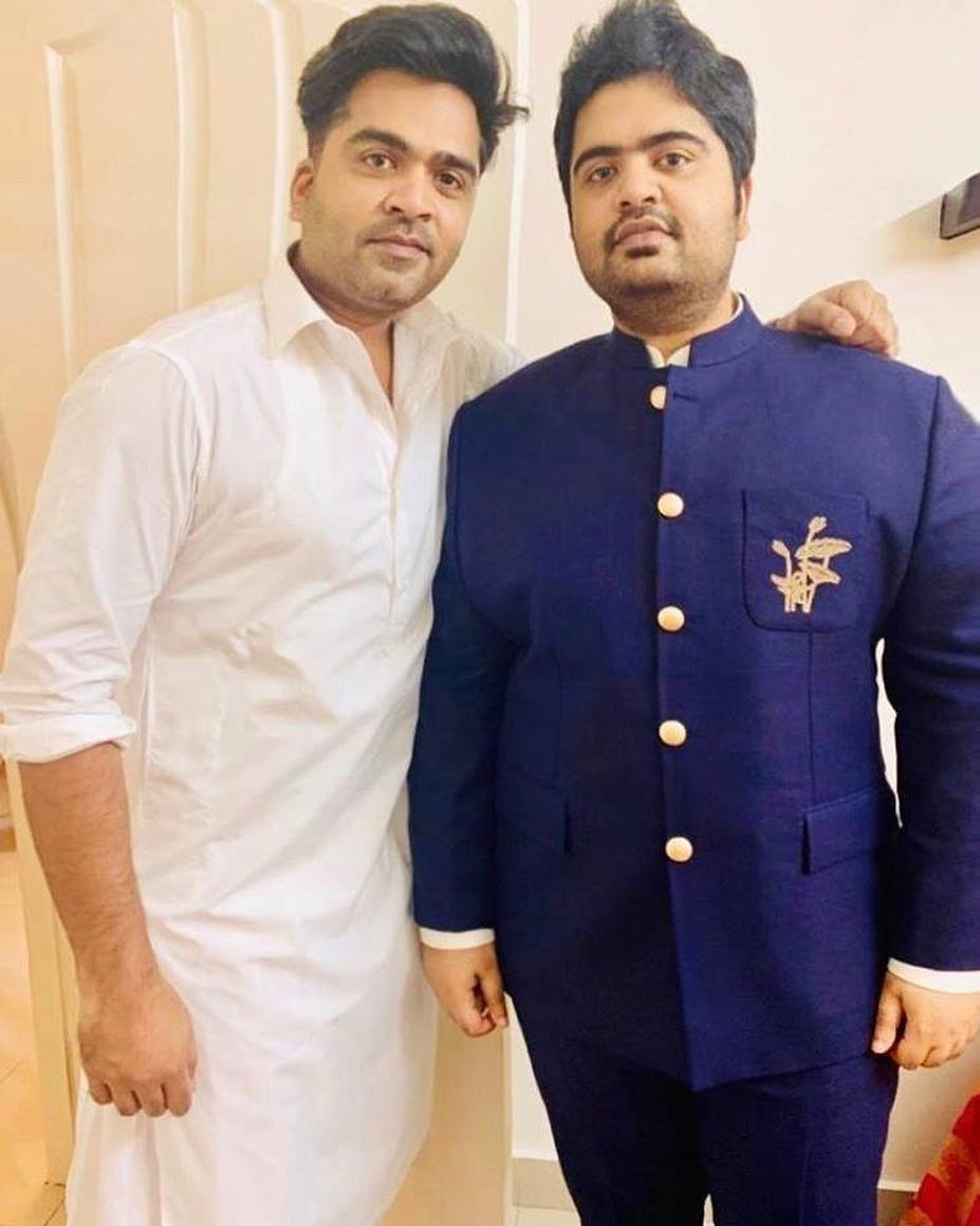 Actor Silambarasan along with his brother Kuralarasan 2019