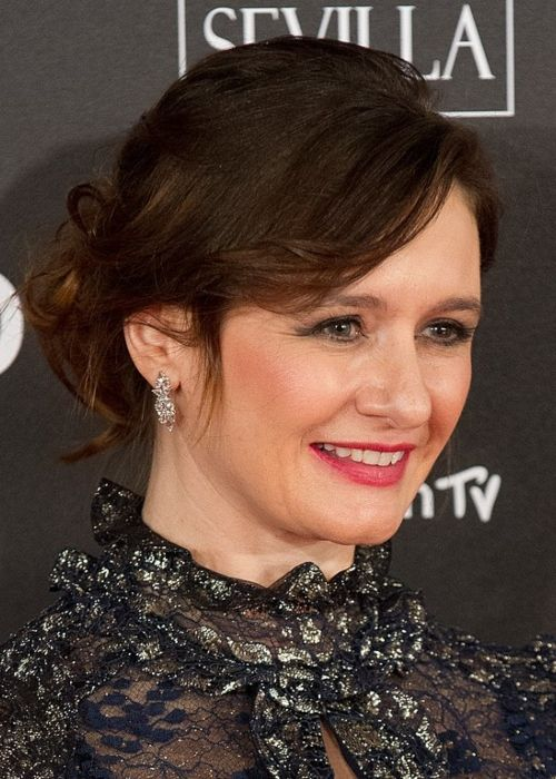 Actress Emily Mortimer at the Goya Awards in February 2018