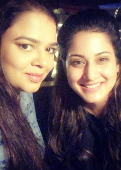 Aditi Rathore as seen in a selfie with her close friend and actress Gulfam Khan Hussain in August 2018