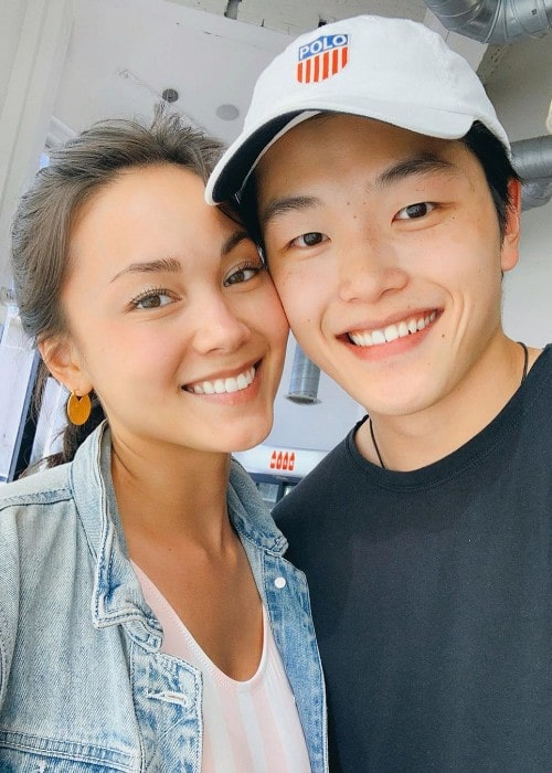 Alex Shibutani with his girlfriend as seen in July 2019