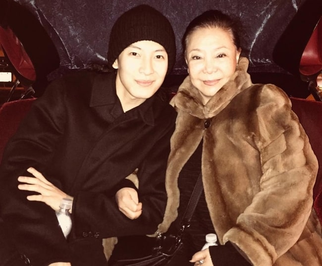 Alexander Wang as seen while posing for a picture along with his mother in May 2018