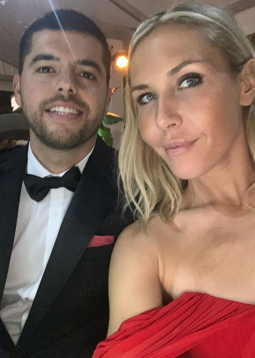 Alexandra Long with her husband Jose as seen in December 2019