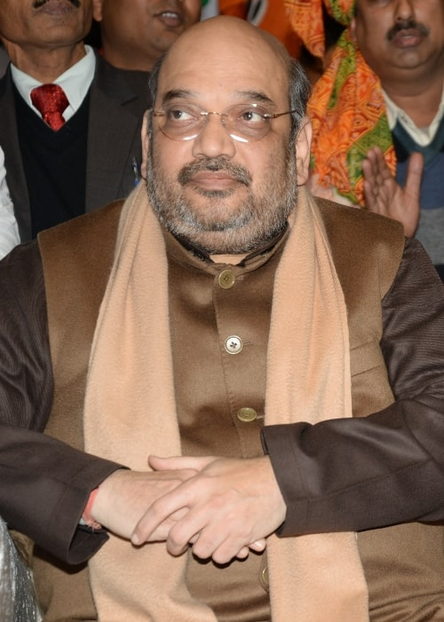 Amit Shah as seen in a picture taken during dalit rally at Talkatora Stadium, New Delhi, India in January 2015