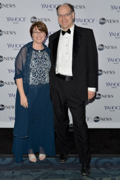 Amy Klobuchar and John Bessler at the Yahoo News/ABCNews Pre-White House Correspondents' dinner reception pre-party at Washington Hilton on May 3, 2014 in Washington, D.C.