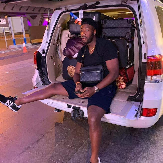 Andre Russell at V Hotel Dubai, Curio Collection by Hilton in November 2019