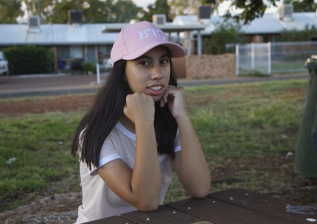 Andrea Noay Dorigo modeling for her sister's camera in 2019