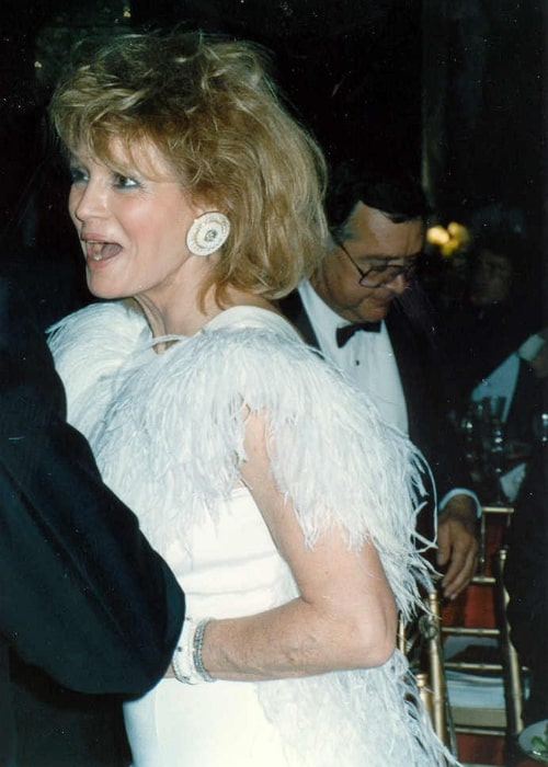 Angie Dickinson as seen in a picture taken at the Governor's Ball party after the 1989 Academy Awards, on March 29, 1989
