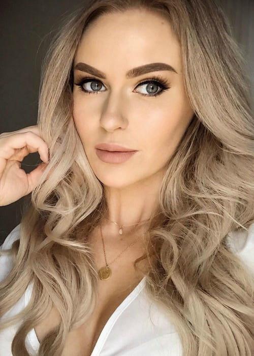 Anna Nyström in an Instagram selfie as seen in July 2019