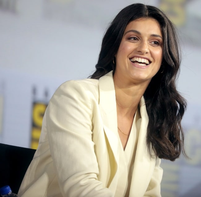 Anya Chalotra as seen while speaking at the 2019 San Diego Comic-Con International, for 'The Witcher', at the San Diego Convention Center in San Diego, California, United States