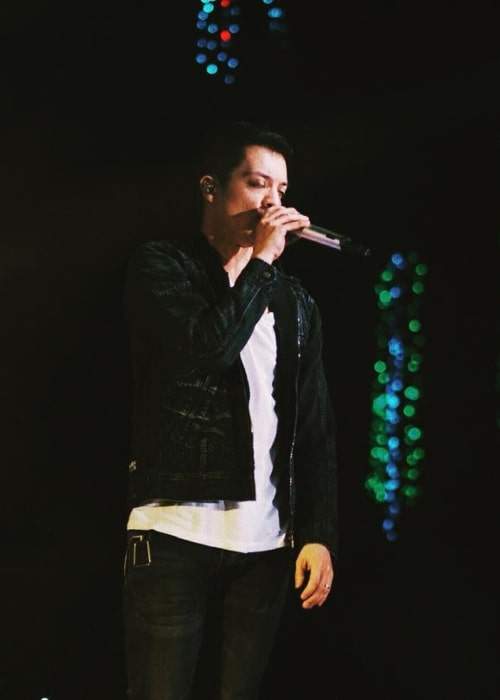 Bamboo Mañalac as seen in a picture taken during a concert on November 21, 2015