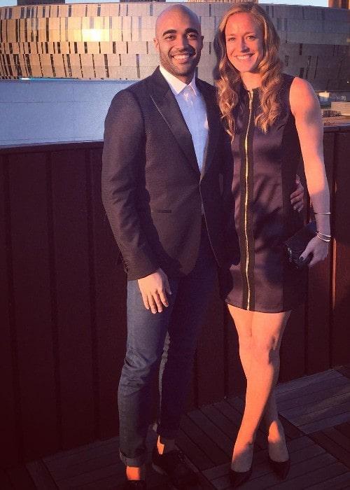Becky Sauerbrunn with her boyfriend Zola as seen in October 2015