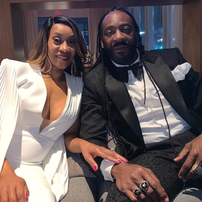 Booker T with his wife as seen in April 2019