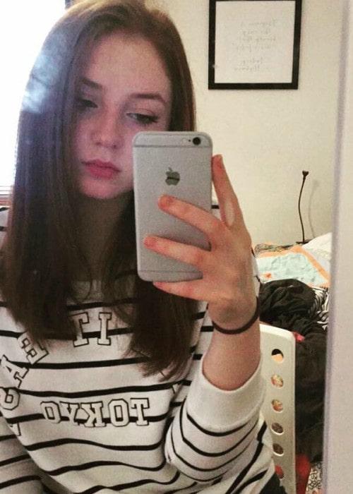 Caitlin Blackwood in a selfie in September 2017