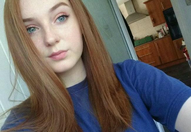 Caitlin Blackwood in an Instagram selife as seen in September 2016