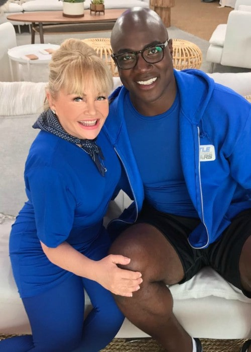 Charlene Tilton and DeMarcus Ware as seen in August 2017