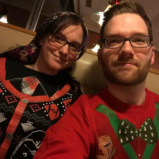 Chris Stuckmann and Sam Liz in a selfie as seen in December 2015
