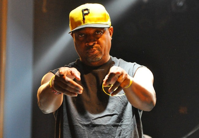Chuck D during a performance as seen in October 2011