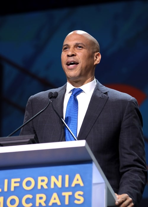 Cory Booker as seen while speaking with attendees at the 2019 California Democratic Party State Convention at the George R. Moscone Convention Center in San Francisco, California, United States