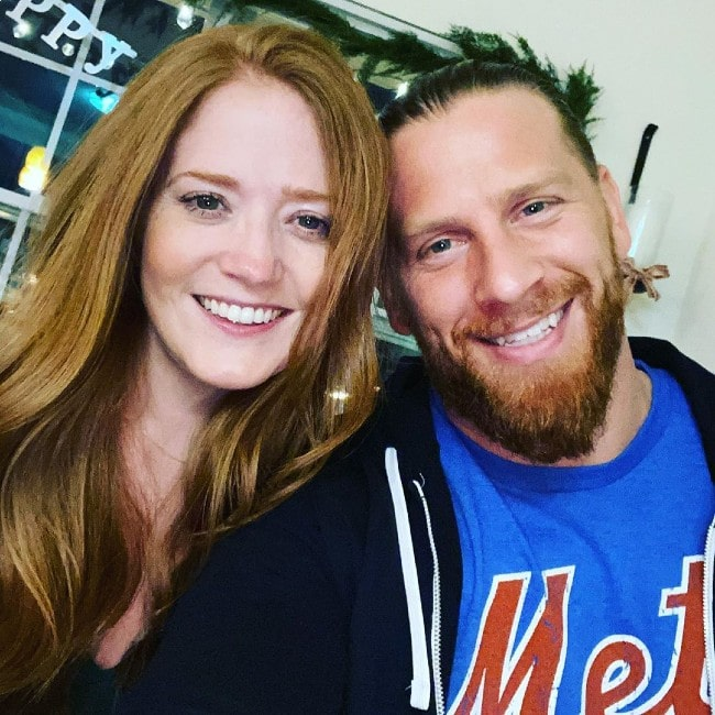 Curt Hawkins with his wife as seen in January 2020