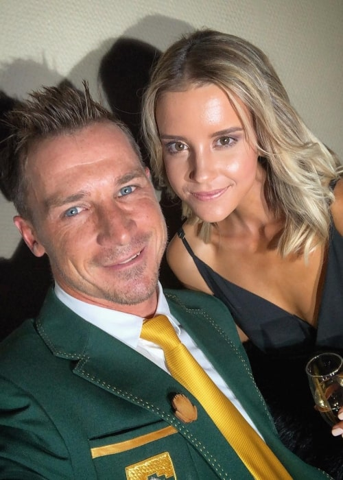 Dale Steyn as seen in a selfie with his beau Beatrice in June 2018