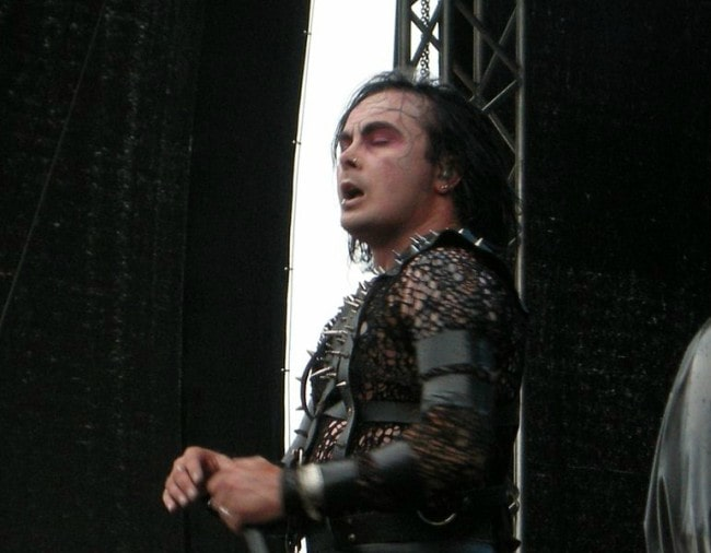 Dani Filth during a performance in 2009
