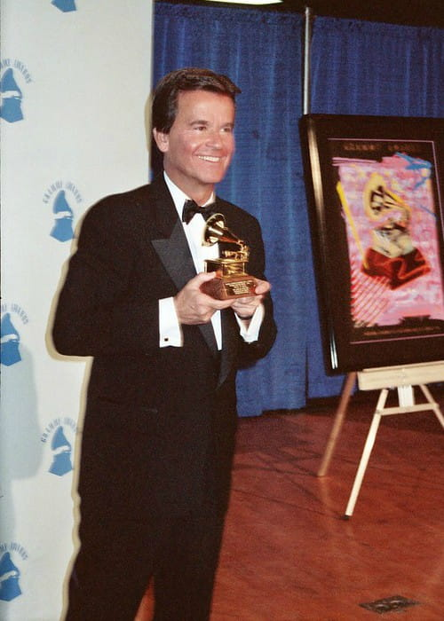 Dick Clark at the 1990 the Grammy Awards