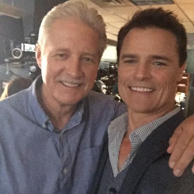 Dylan Neal (Right) as seen while posing for a picture along with Bruce Boxleitner in July 2017