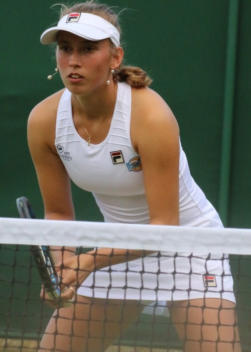 Elise Mertens as seen in a picture taken during a match in WM16 on July 7