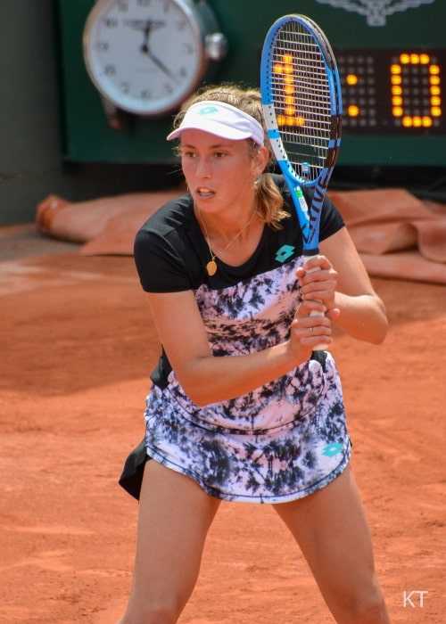 Elise Mertens as seen in picture taken during the 2nd round of match against Heather Watson on day 5 of the Roland Garros 2018