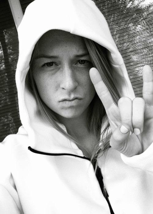 Emily Sonnett in an Instagram selfie as seen in September 2016