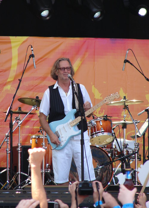 Eric Clapton performing at Crossroads Festival in 2009