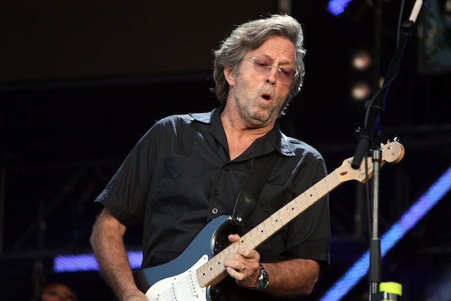 Eric Clapton performing at the Hard Rock Calling concert in 2008