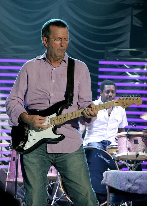Eric Clapton performing live at Rotterdam in 2006