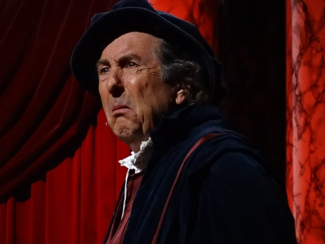 Eric Idle as seen while performing the 'Michelangelo' sketch during the Monty Python Live (Mostly) show in July 2014