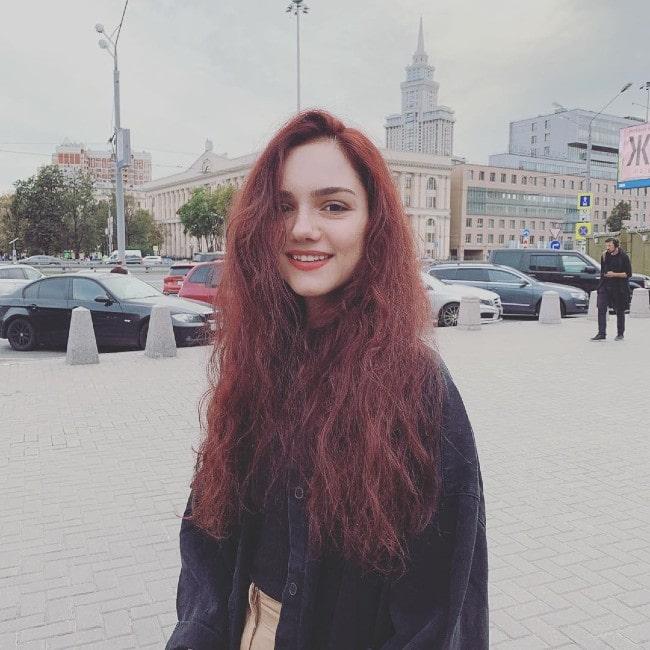Evgenia Medvedeva as seen in August 2019