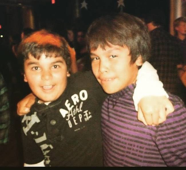 Forrest Goodluck (Right) during his time from middle school