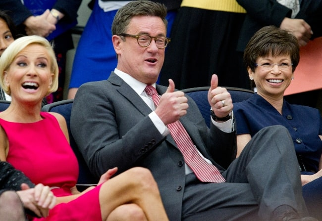 From Left to Right - Mika Brzezinski, Joe Scarborough, and Valerie Jarrett as seen at White House Forum on Women and the Economy in April 2012