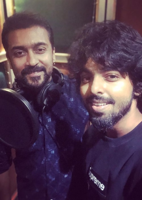 G. V. Prakash Kumar along with Suriya as seen in an instagram selfie 2019