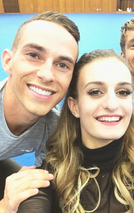 Gabriella Papadakis and Adam Rippon in a selfie as seen in December 2017