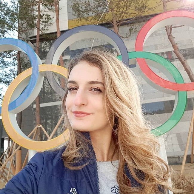 Gabriella Papadakis as seen in February 2018