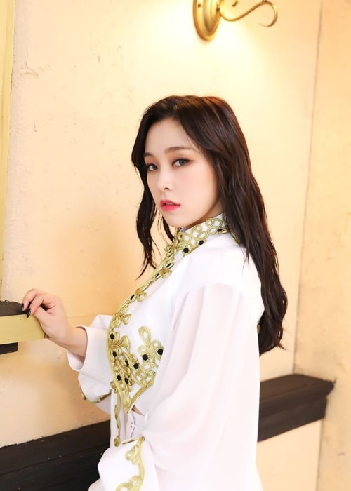 Gahyeon as seen in a picture uploaded to the official Dreamcatcher Instagram account on November 28, 2019