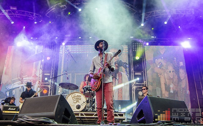 Gary Clark Jr while playing at the North Coast Music Festival in Chicago in September 2013